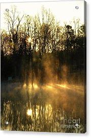 Morning Fog Rising Acrylic Print