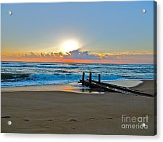 Morning Footprints Acrylic Print