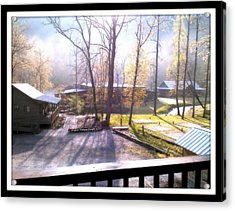 Acrylic Print featuring the digital art Morning Glory At Ironhorse Resort by Angelia Hodges Clay