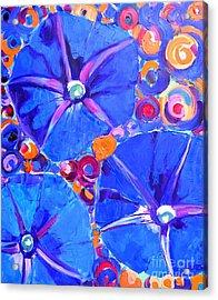 Morning Glory Flowers Acrylic Print by Ana Maria Edulescu