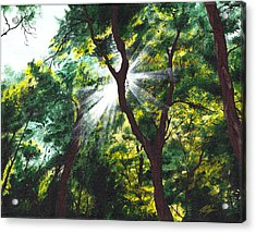 Acrylic Print featuring the painting Morning Glory by Joe Burgess