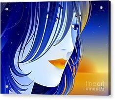 Morning Glory Acrylic Print by Sandra Hoefer