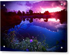 Acrylic Print featuring the photograph Morning Glory Sky by Susan D Moody