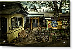Acrylic Print featuring the photograph Morning Glory Cafe Ashland by Thom Zehrfeld