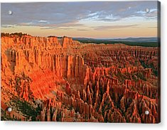 Morning Glow In Bryce Canyon. Acrylic Print