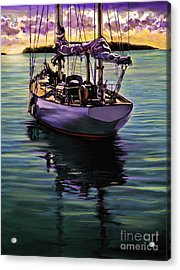 Acrylic Print featuring the painting Morning Has Broken by David  Van Hulst