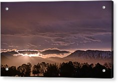 Morning Haze Acrylic Print by Eric Rundle