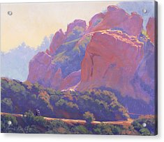 Morning Hike Cathedral Rock Acrylic Print by Elena Roche