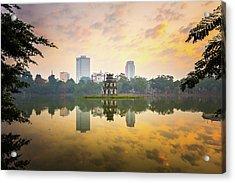 Morning In Hoan Kiem Lake Of Hanoi Acrylic Print by Spc#jayjay