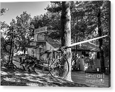 Morning In Rabbit Hash Bw Acrylic Print