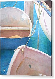 Morning In The Marina Acrylic Print by Diane Cutter