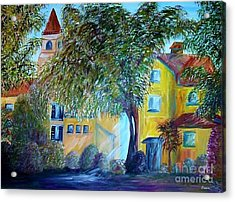 Morning In Tuscany Acrylic Print by Eloise Schneider