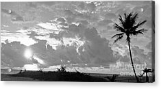 Morning Inspriation In Black And White Acrylic Print by Vic  Mastis