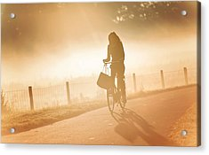 Morning Journey In The Glowing Mist Acrylic Print by Jenny Rainbow