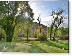 Morning Light At The Rolling Green Cc Acrylic Print by Eric Nielsen