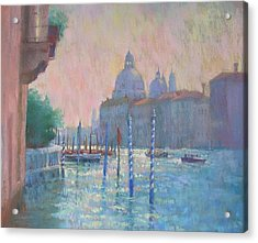 Morning Light From The Academia Bridge Acrylic Print by Jackie Simmonds