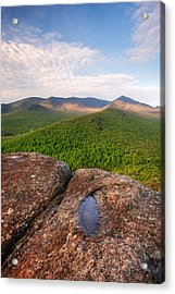 Morning Light On Cascade Mountain Acrylic Print by Panoramic Images