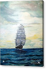 Acrylic Print featuring the painting Morning Light On The Atlantic by Lee Piper