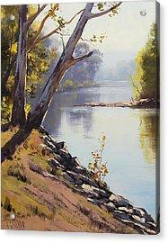 Morning Light Tumut River Acrylic Print by Graham Gercken