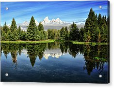 Morning Magic At Schwabacher Acrylic Print by Jeff R Clow