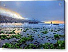 Morning Malibu Surf Acrylic Print