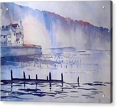 Morning Mist At Sandsend Acrylic Print