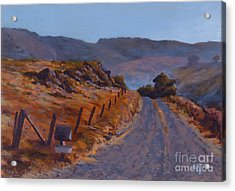 Morning Mist Off A Country Road Acrylic Print by Betsee  Talavera