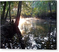 Morning Mist On The River  Acrylic Print by Rick Todaro