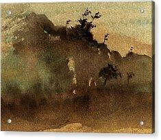 Morning Mist Acrylic Print by Richard Hinger