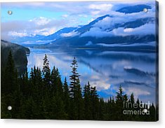 Morning Mist Rising Acrylic Print