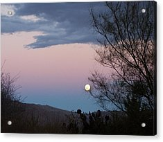 Morning Moon Acrylic Print by Christine Drake