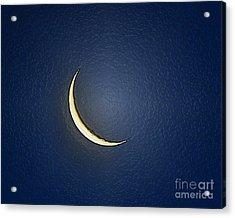 Morning Moon Textured Acrylic Print by Al Powell Photography USA