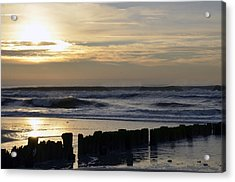 Morning Ocean Rockaway Beach 3 Acrylic Print