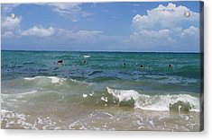 Morning On Boynton Beach 3 Acrylic Print by Shawn Lyte