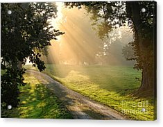 Morning On Country Road Acrylic Print