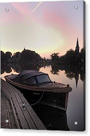 Morning On The Amstel Acrylic Print by Cristel Mol-Dellepoort