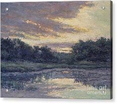 Morning On The Marsh / Wellfleet Acrylic Print by Gregory Arnett