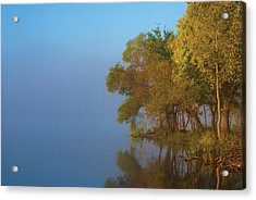Morning On The Saganashkee Acrylic Print by Larry Bohlin