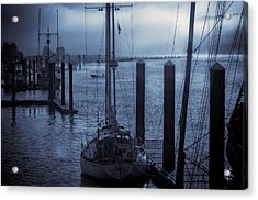 Morning On The Siuslaw Acrylic Print by Michael Connor