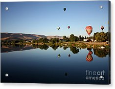Morning On The Yakima River Acrylic Print by Carol Groenen