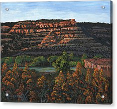 Morning Over The Bluffs Acrylic Print