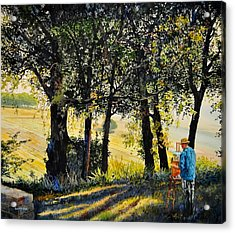 Morning Plein-air In Southern France Acrylic Print
