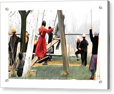 Acrylic Print featuring the painting Morning Recess by Bob Salo