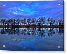 Blue Morning Reflection Acrylic Print