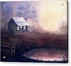 Acrylic Print featuring the painting Morning Reflections by Hazel Holland