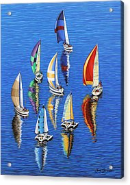 Acrylic Print featuring the painting Morning Reflections by Jane Girardot