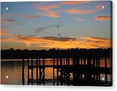 Acrylic Print featuring the photograph Morning Reflections by Michele Kaiser