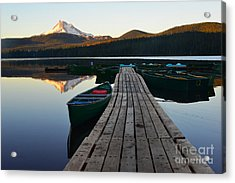 Morning Reflections With Mount Ranier Acrylic Print