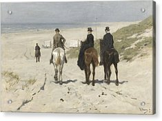 Morning Ride Along The Beach Acrylic Print