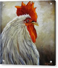 Morning Rooster Acrylic Print by Cheri Wollenberg